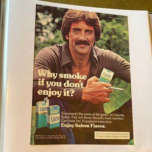 Vintage 70s Sport Magazine Double-Sided Ad Poster